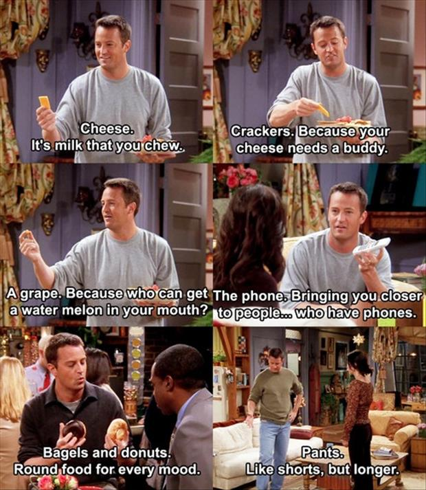 life explained by chandler from friends