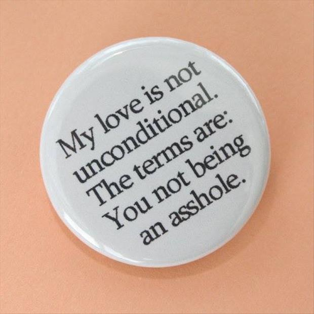love is not unconditional