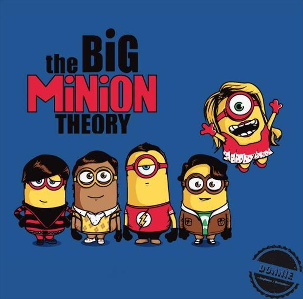 minions as big bang theory cast members