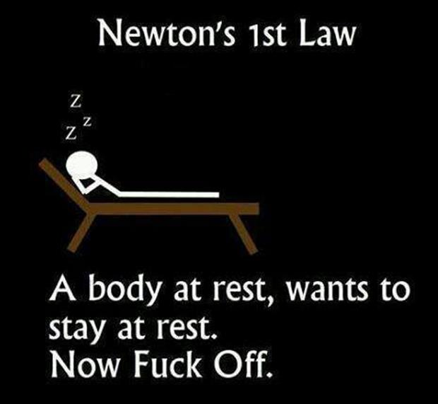 newton's law stay at rest