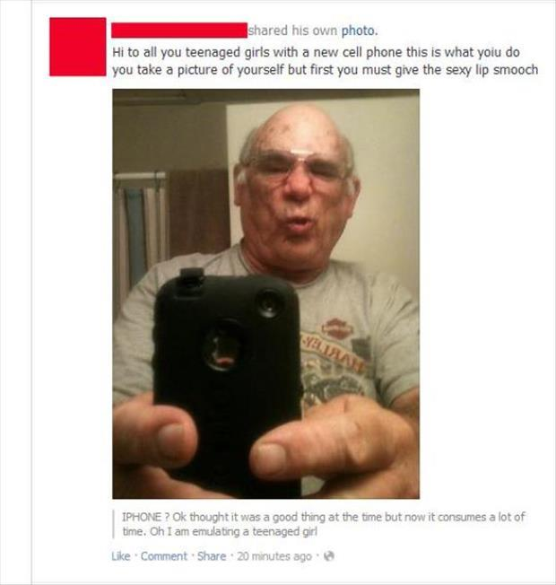 old guy taking pictures