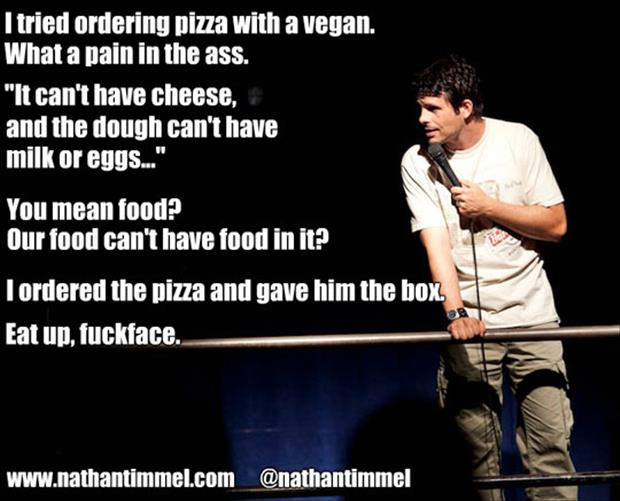 order pizza with a vegan