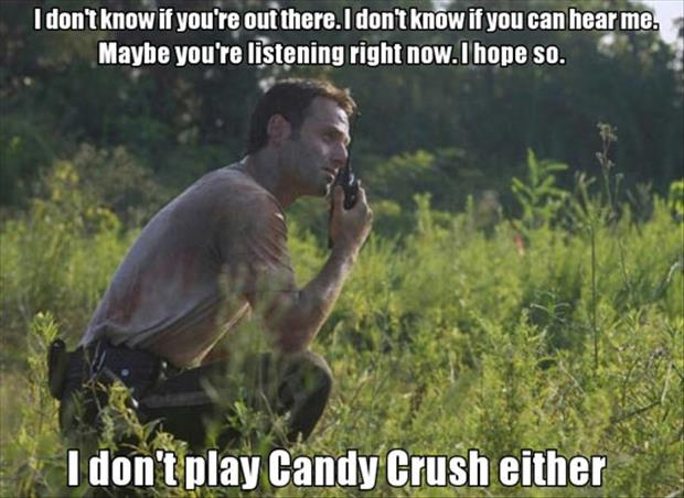 playing candy crush