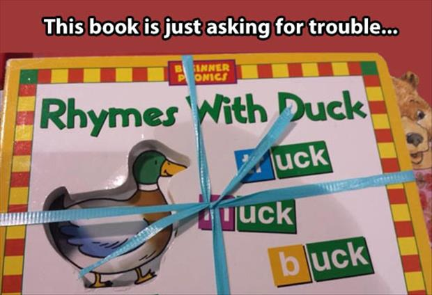 rhymes with duck book