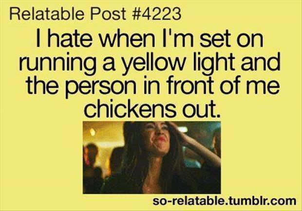 running a yellow light