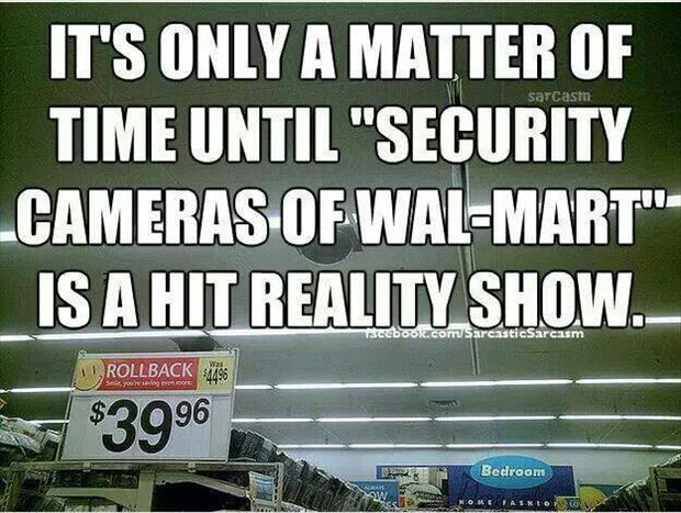 security cameras in wal mart