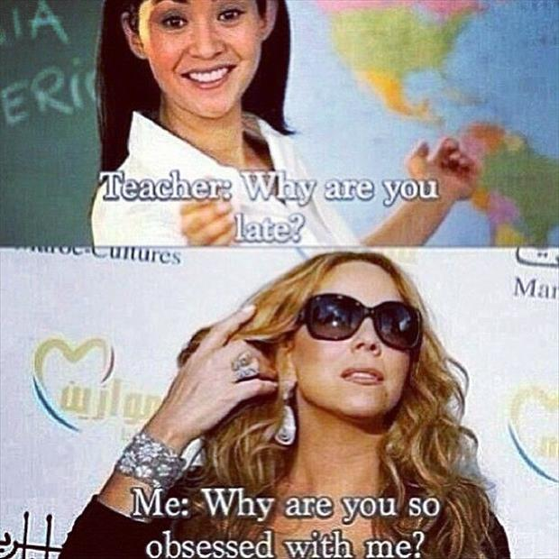 teacher vs me