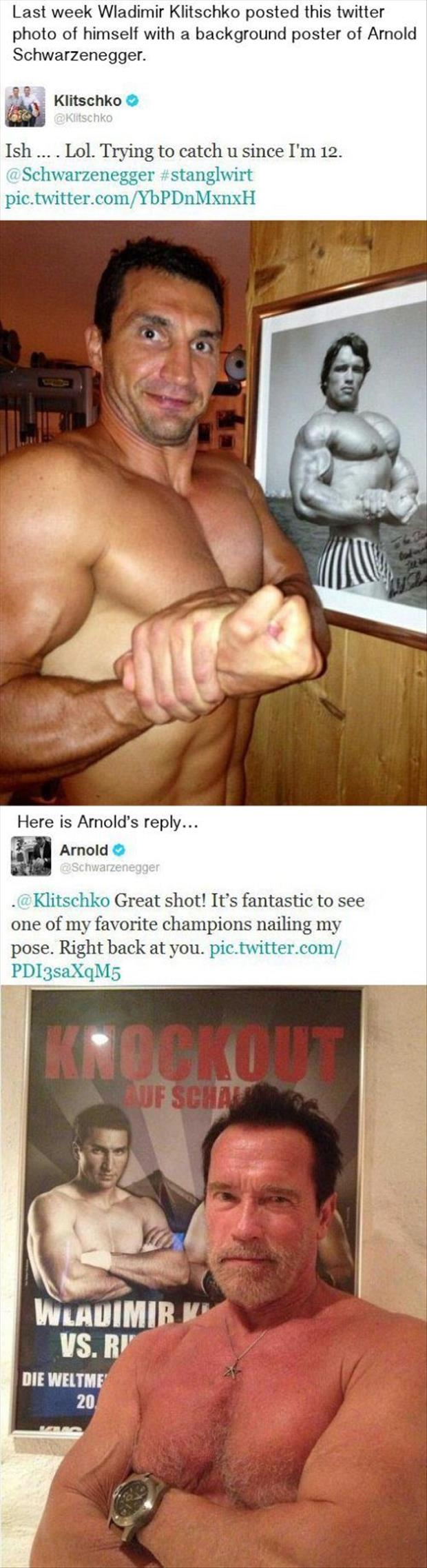 twitter quotes arnold posing