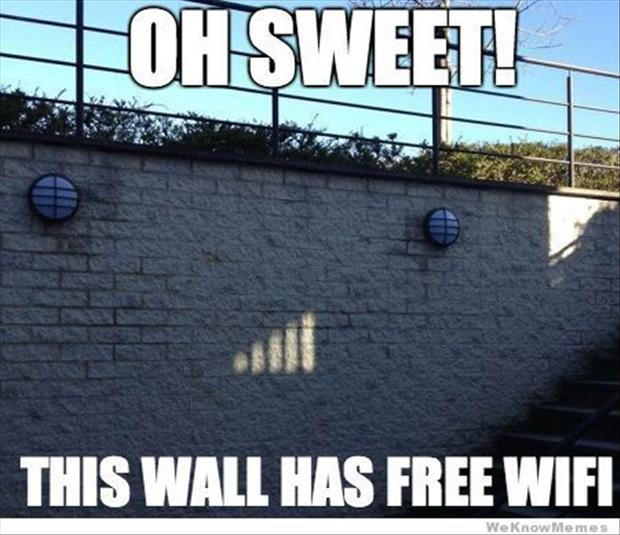 wall has wifi