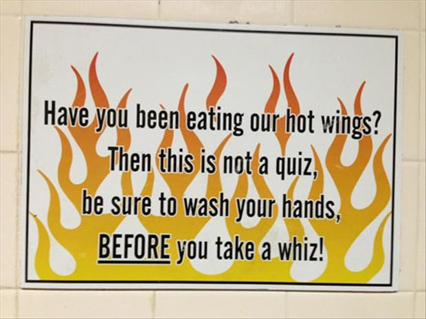 wash your hands after eating hot wings