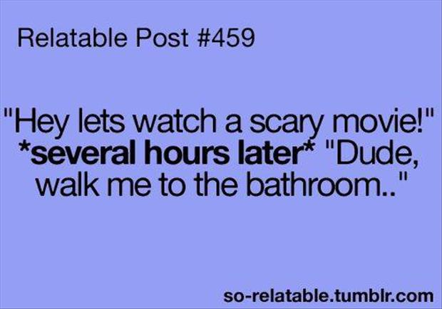 watch a scary movie