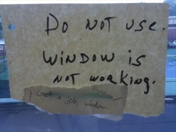windows is not working