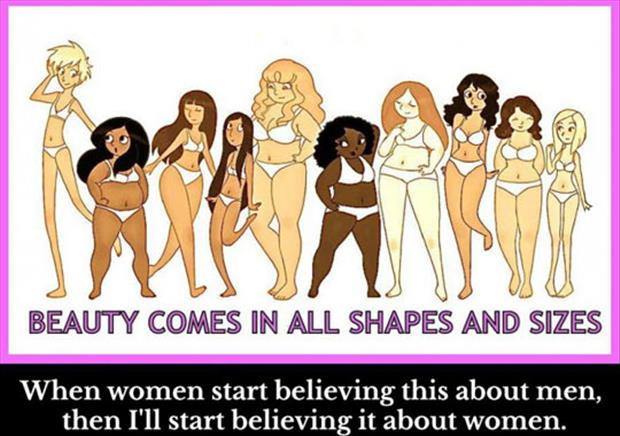 women come in all shapes and sizes