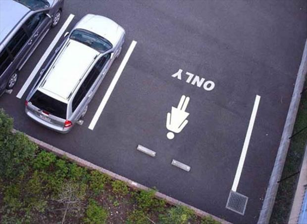 women parking only