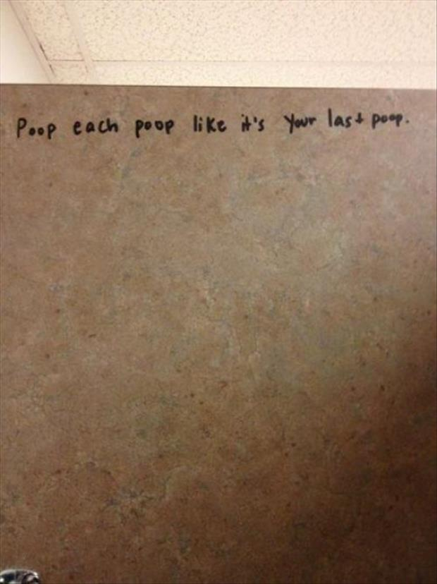 writing on stall walls