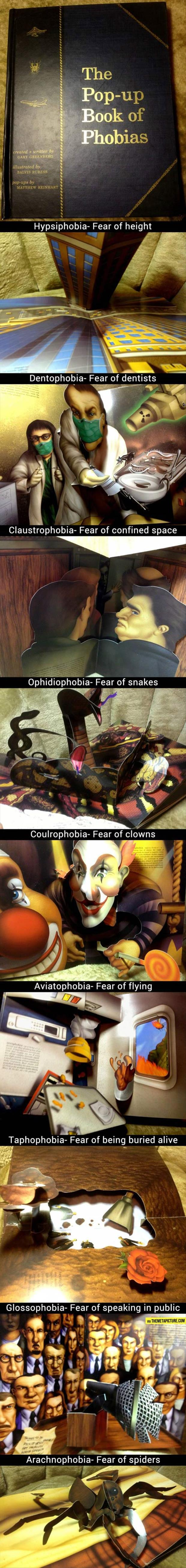 z a pop up book of phobias
