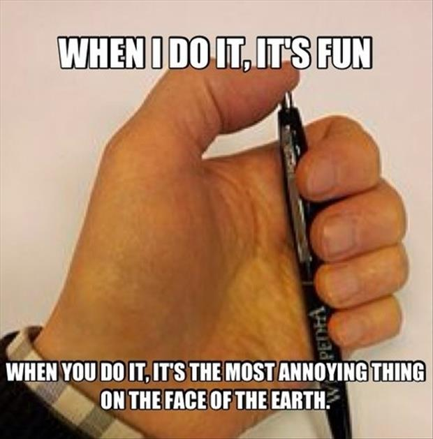 clicking a pen