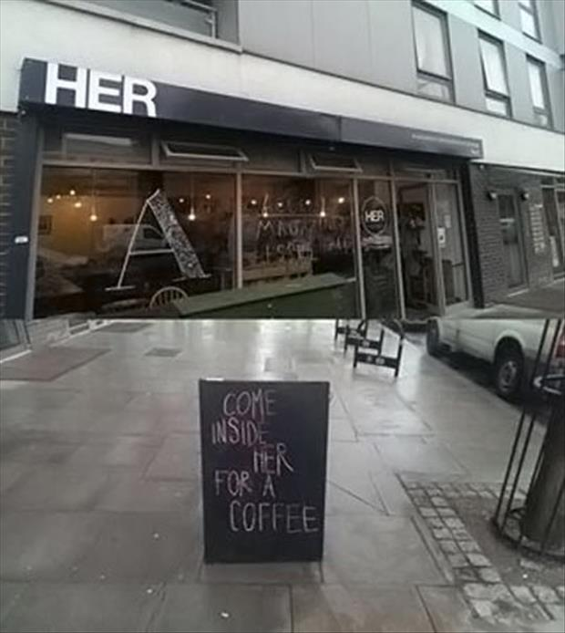 come inside for some coffee
