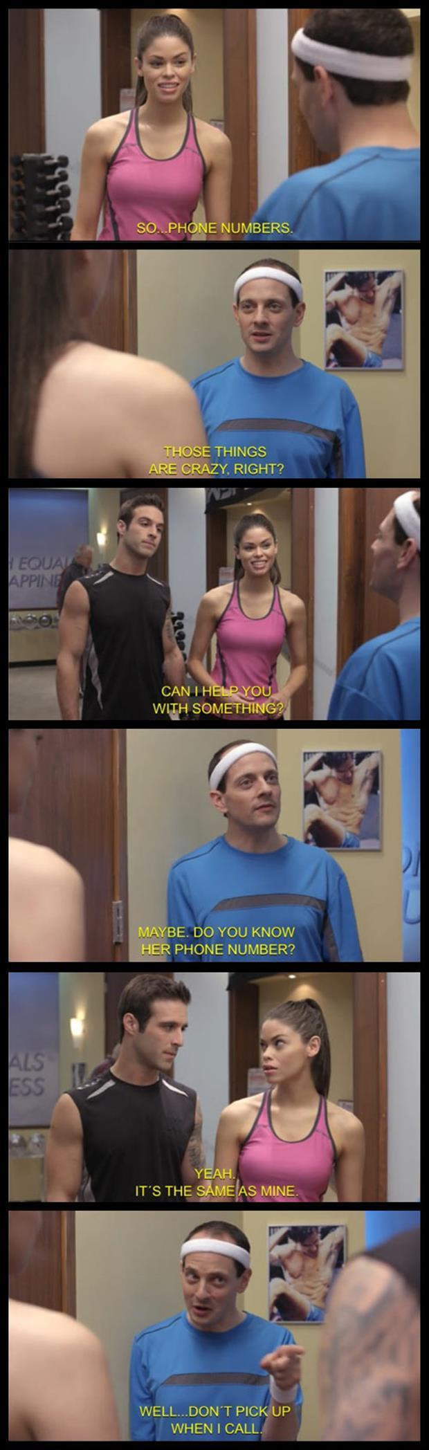 flirting at the gym