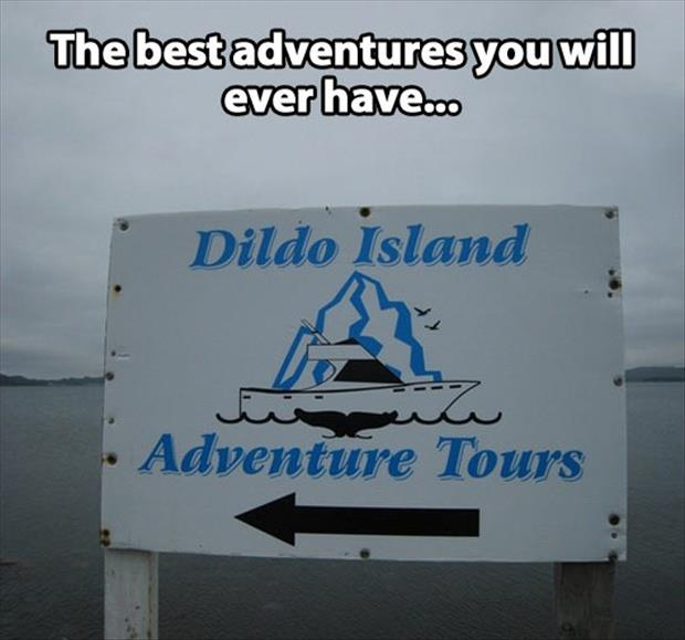 funny tourist signs