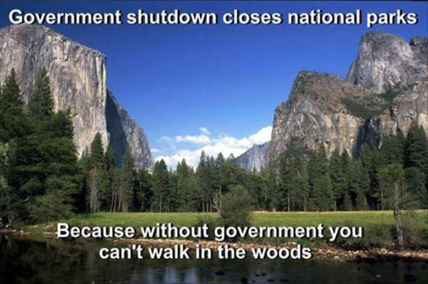 goverment shutdowns close national parks