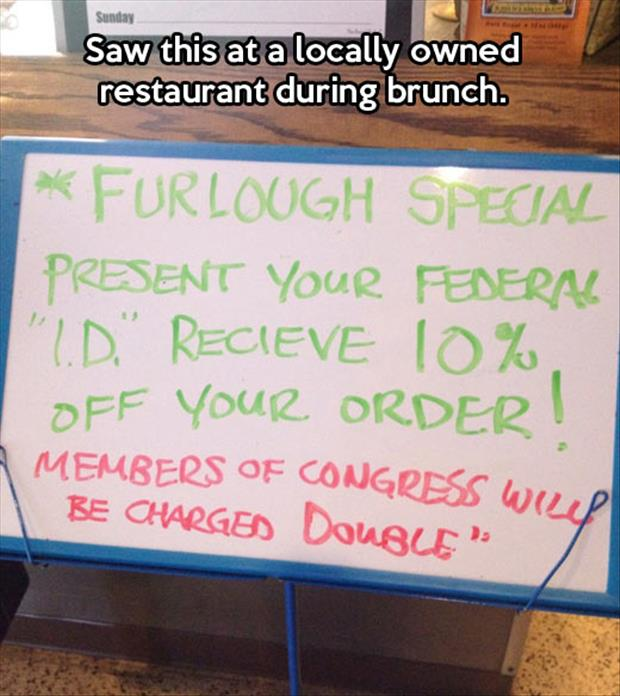 governemtn discount on lunch