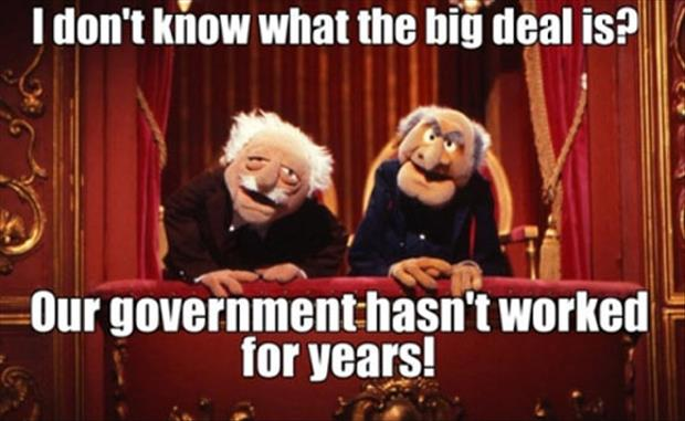 government hasn't worked for years