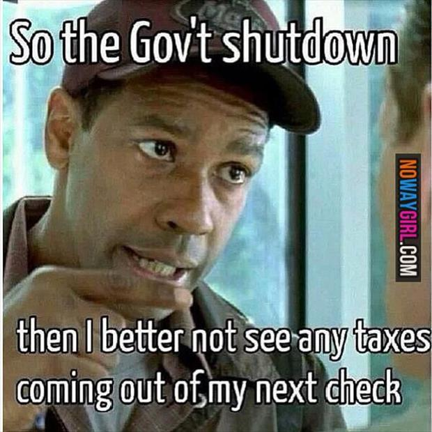 government shut down taxes