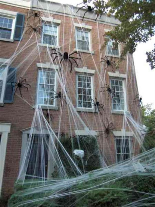 People Decorating For Halloween