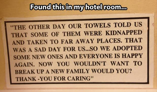 hotel signs funny