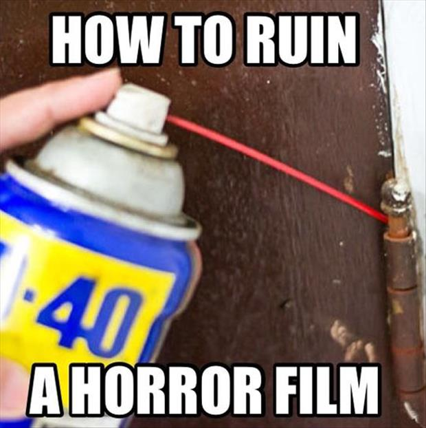 how to ruin a horror movie