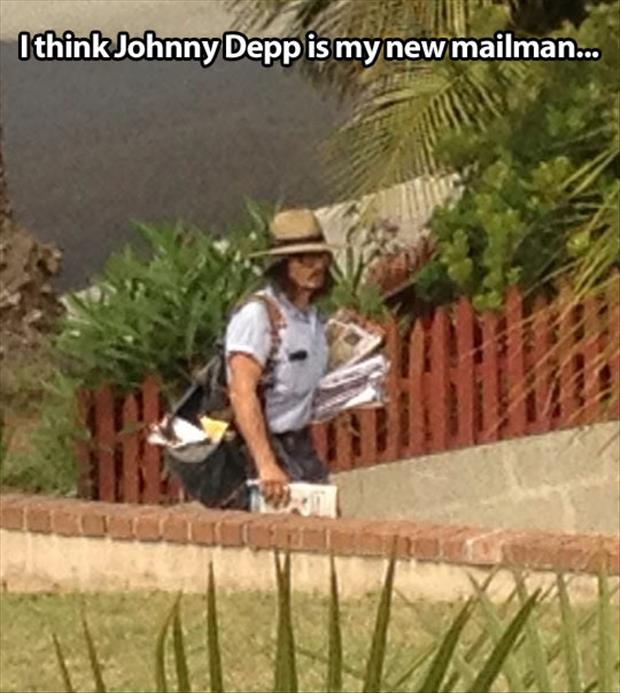 johnny depp mailman