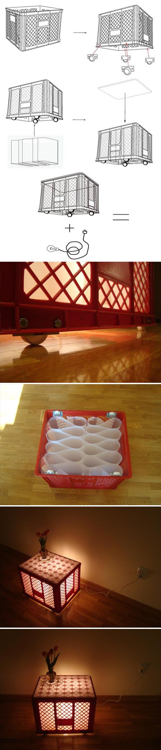 lamp table craft idea