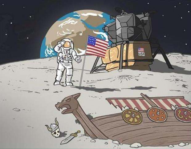 landed on the moon