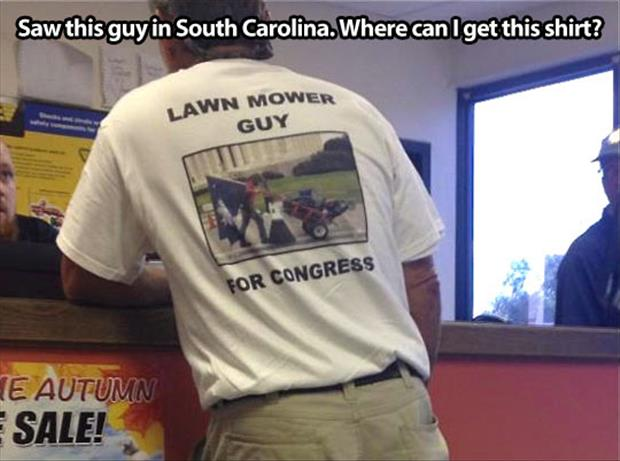 lawn mower guy for congress