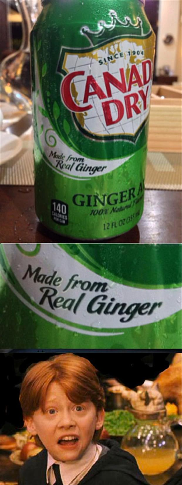 made from real ginger