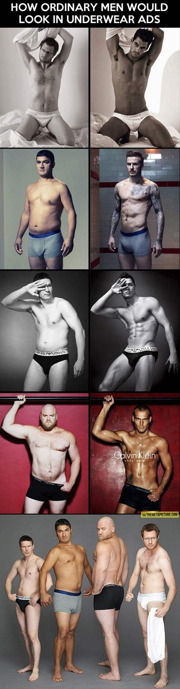 ordinary men in underware ads
