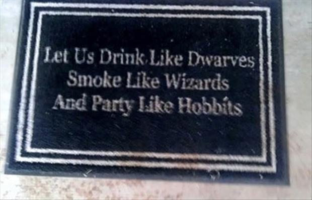 party like hobbits