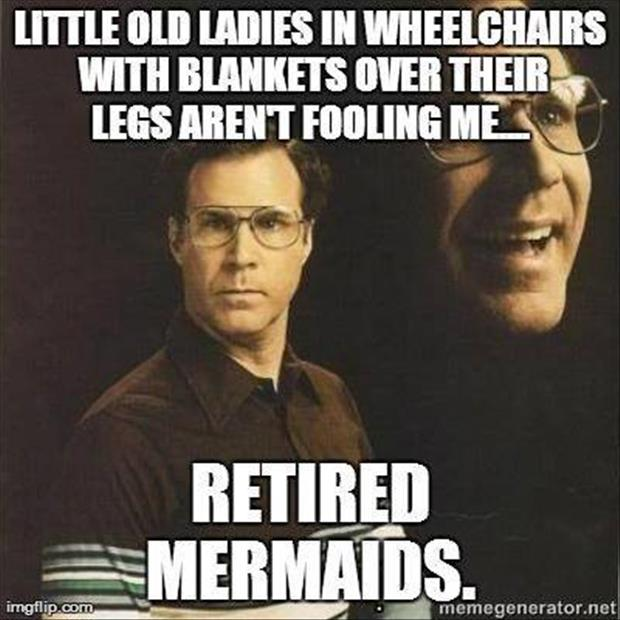 retired mermaids