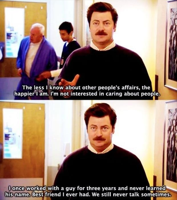 ron swanson best friends