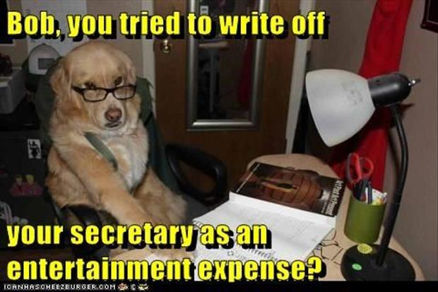secretary write off for taxes