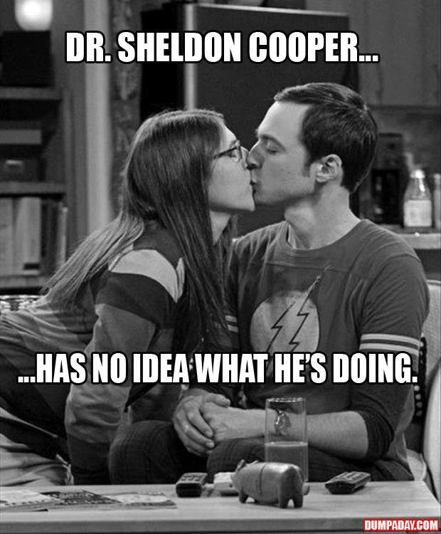 sheldon and amy kissing