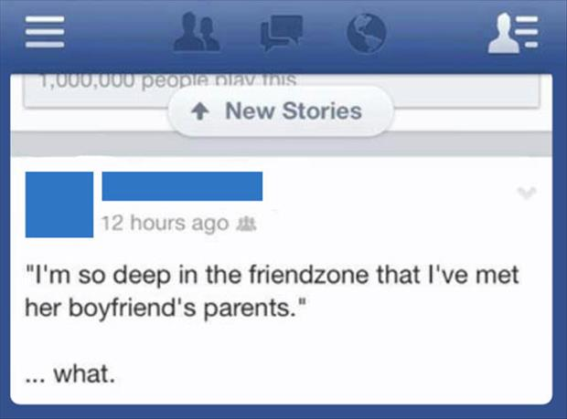so deep in the friendzone