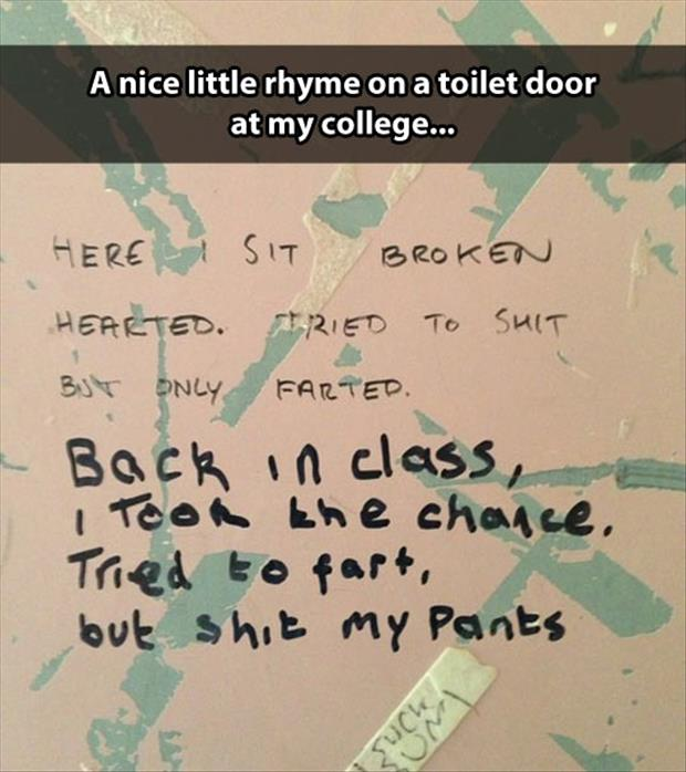 stall wall poems