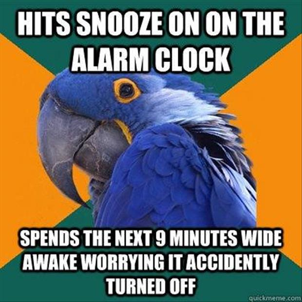 the alarm clock turned off