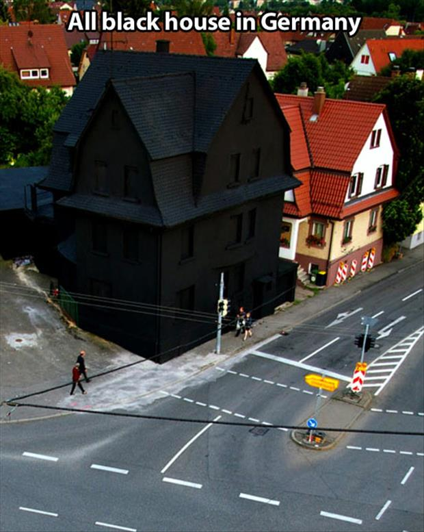the all black house in germany