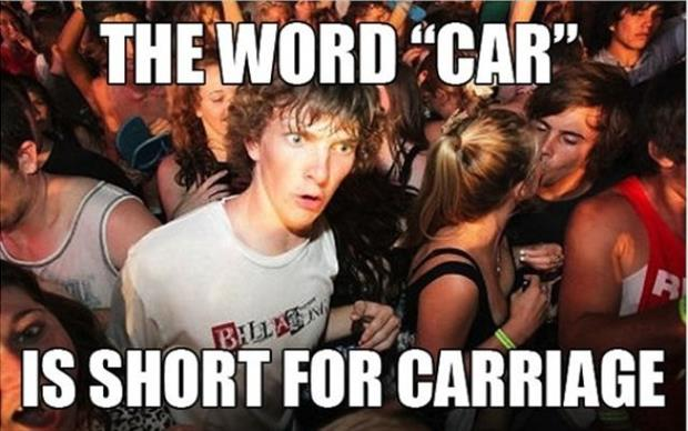 the word car is short for carriage