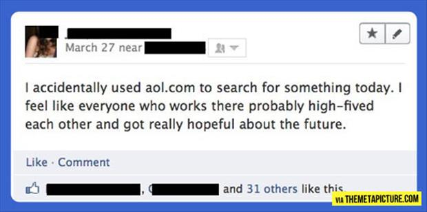 using aol search