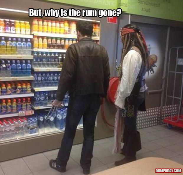 why is the rum gone