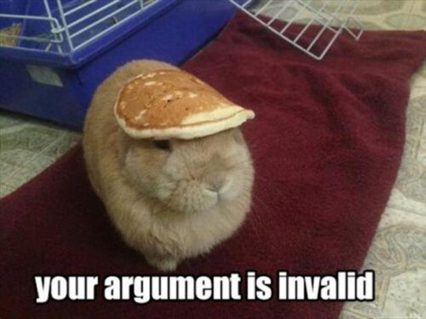 your argument is invalid (12)